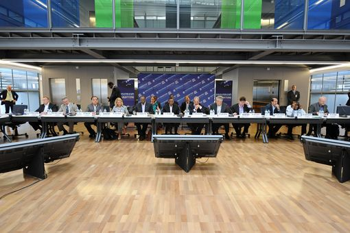The first Broadband Commission for Digital Development meeting in session, Geneva